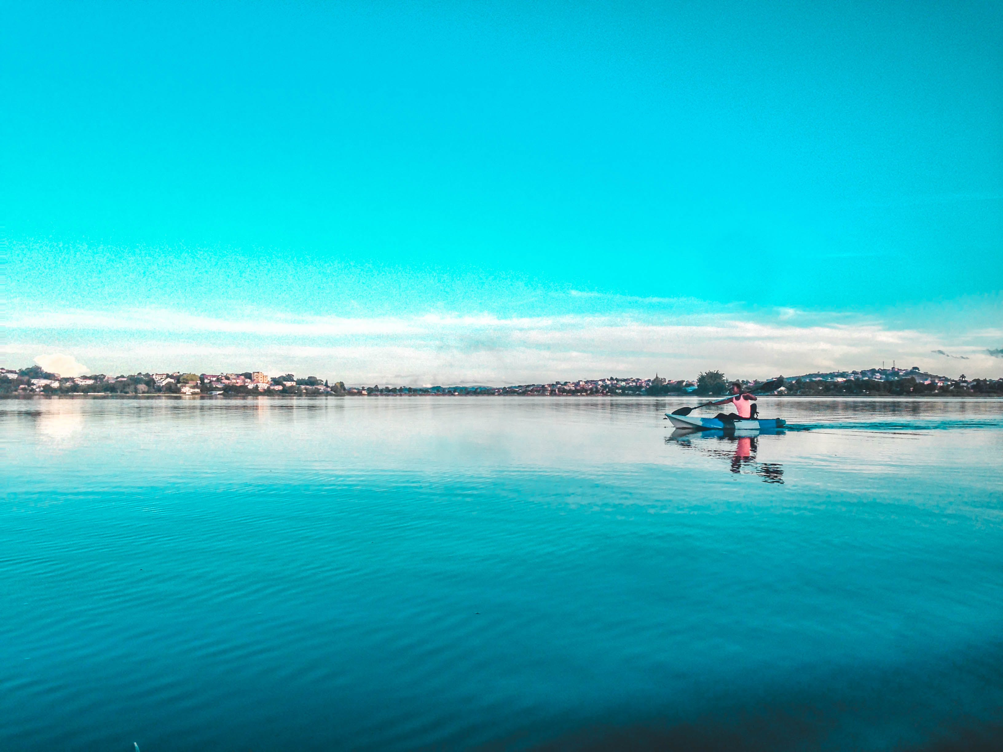 Free stock photo of Blue Lake Jonas Androx Boat Lonely Inspired