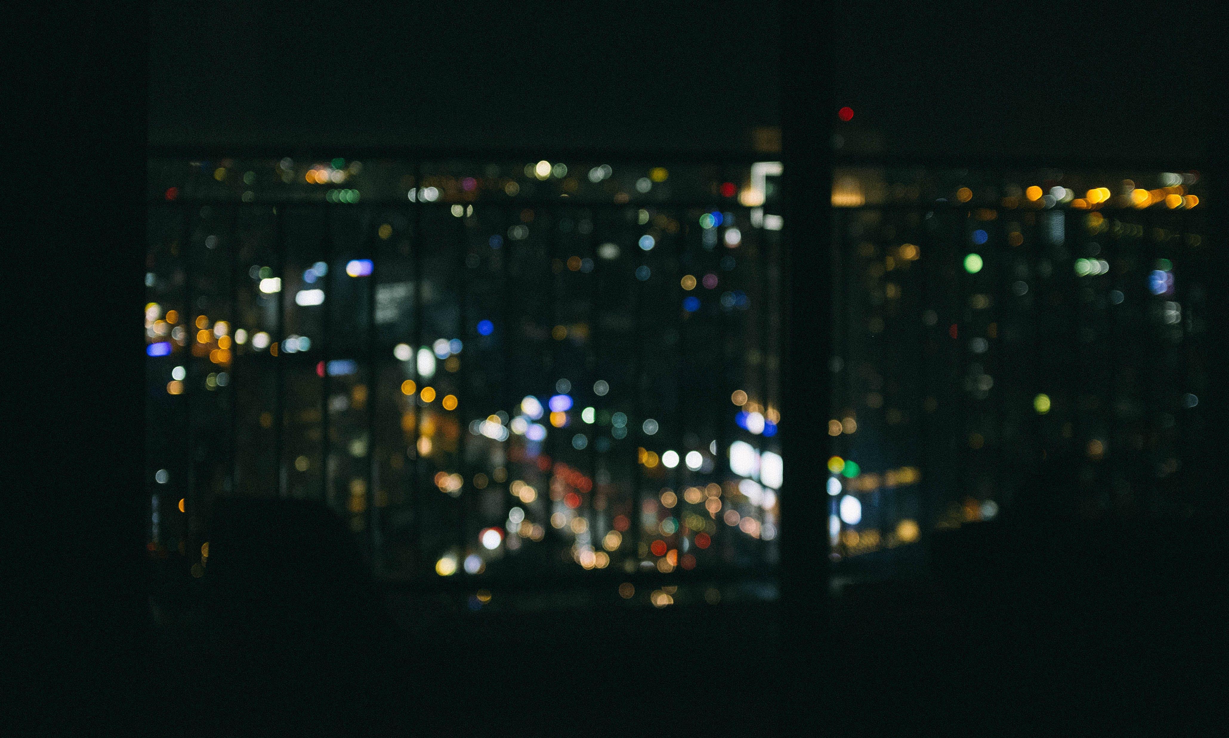 Free stock photo of bokeh, city, city lights, lightning