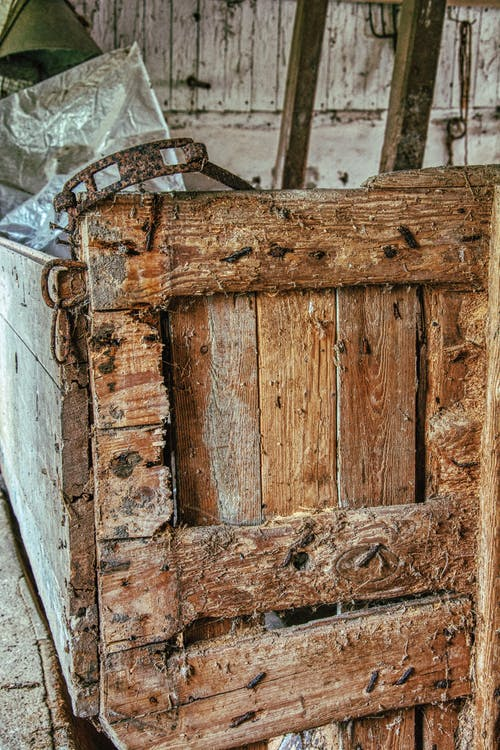Gratis lagerfoto af gamle hæfteklammer, plankeværk