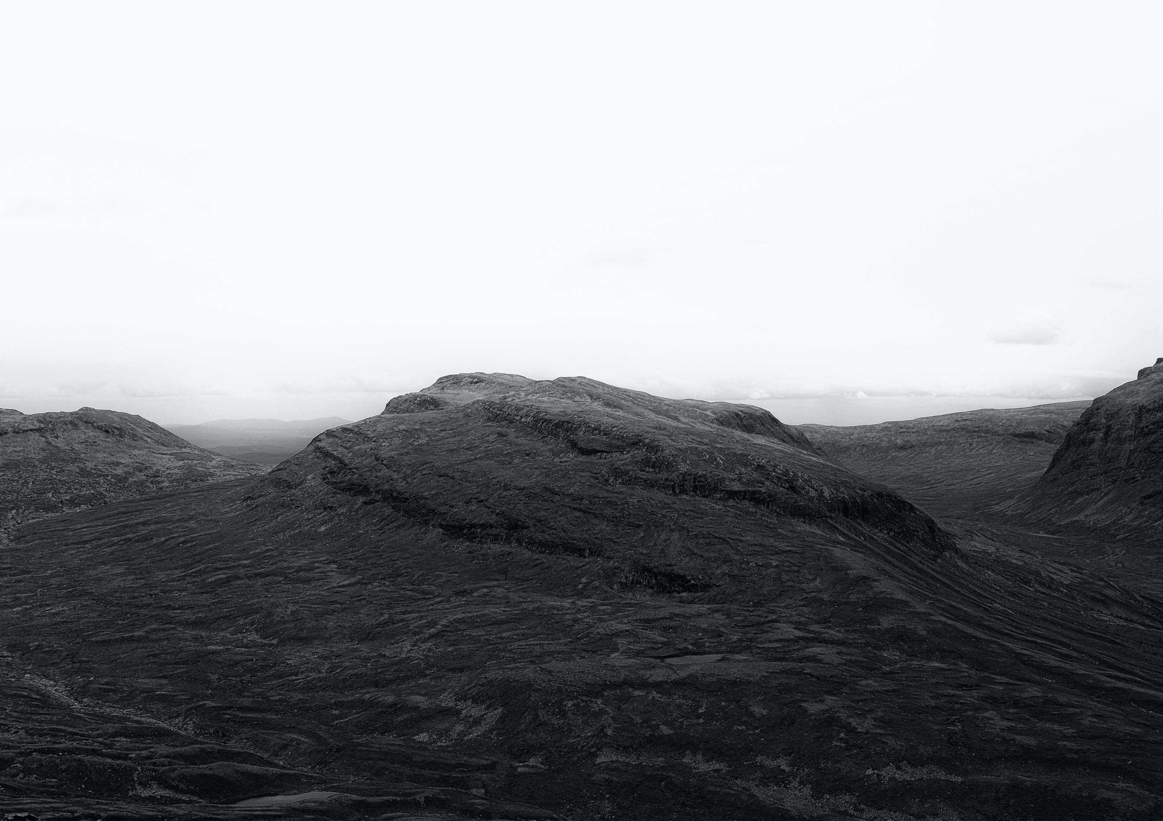 Free stock photo of alps, b&w, black and white, jämtland