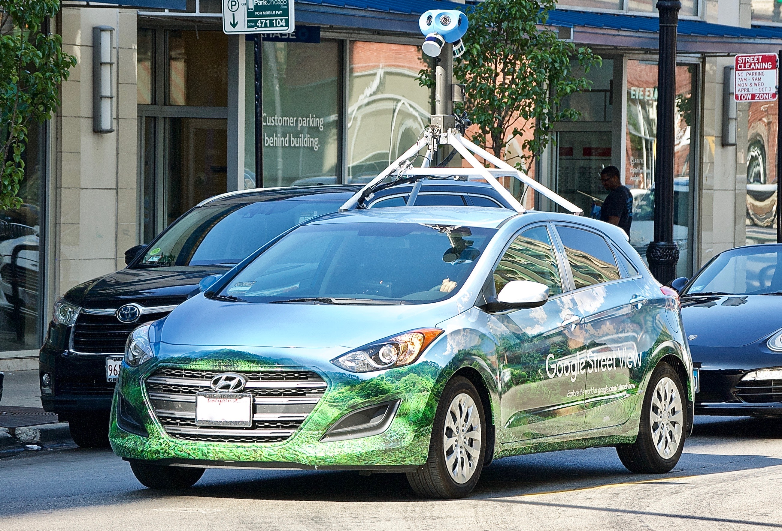 Free stock photo of Google map car