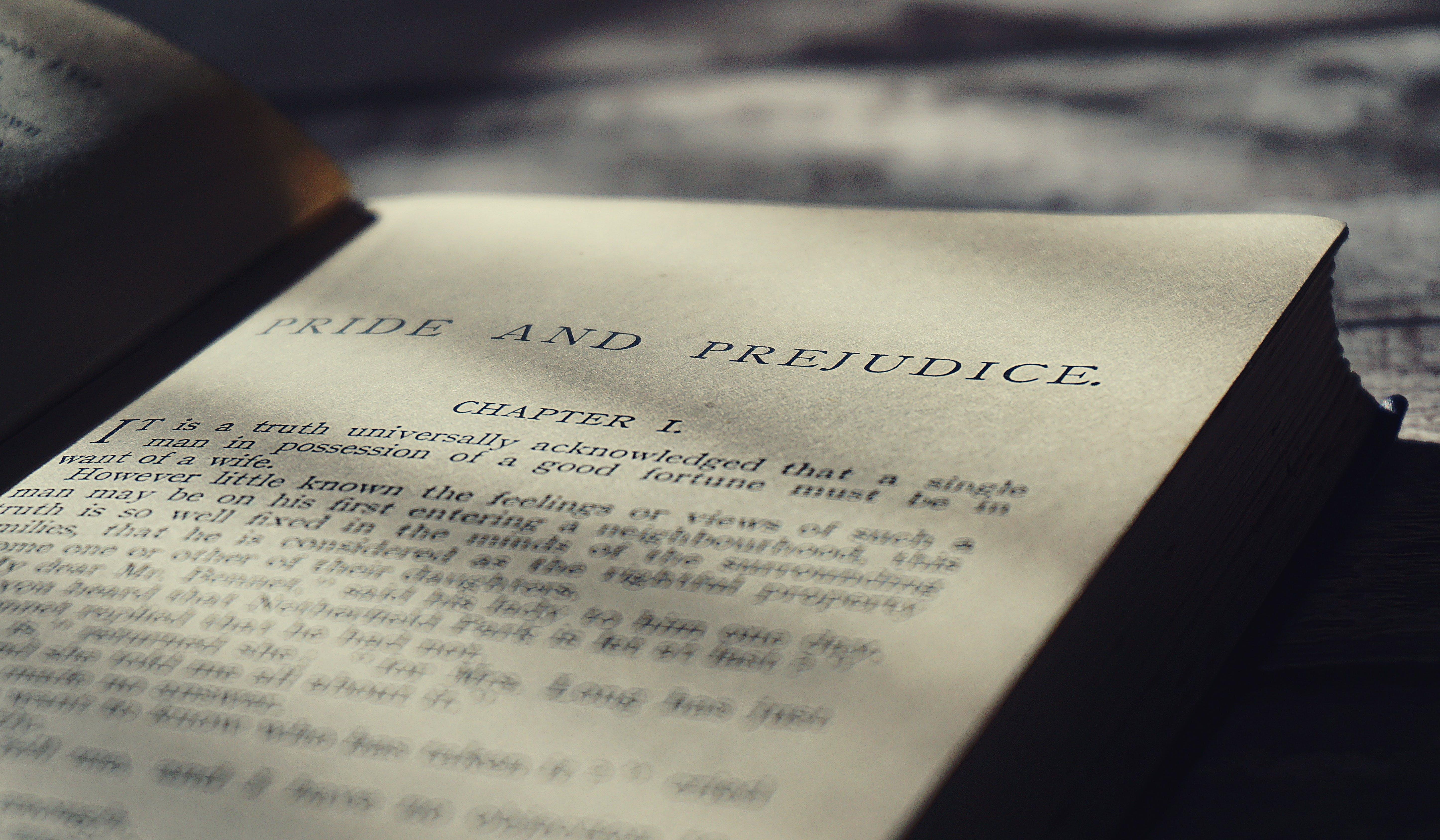 Closeup Photo of Pride and Prejudice Book Page