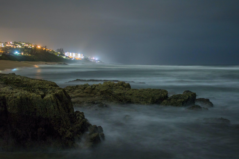 Základová fotografie zdarma na téma dlouhá expozice, hluboký oceán, noc, noční světla