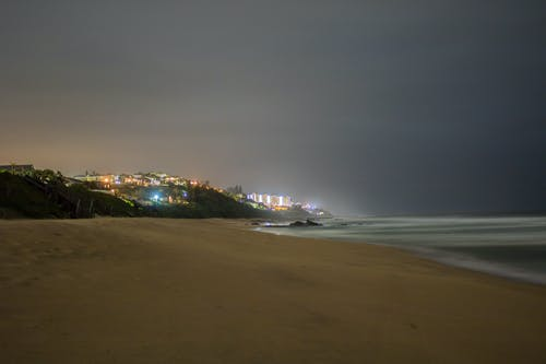 Free stock photo of beach, beach front, deep ocean, night lights