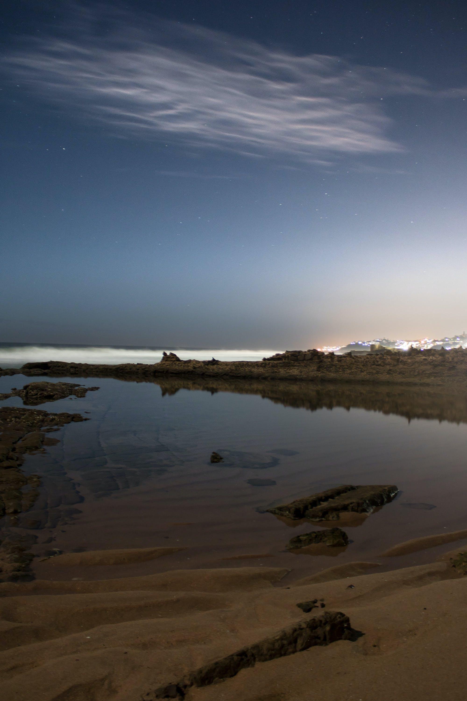 Základová fotografie zdarma na téma moře, noc, noční záběr, oční obloha