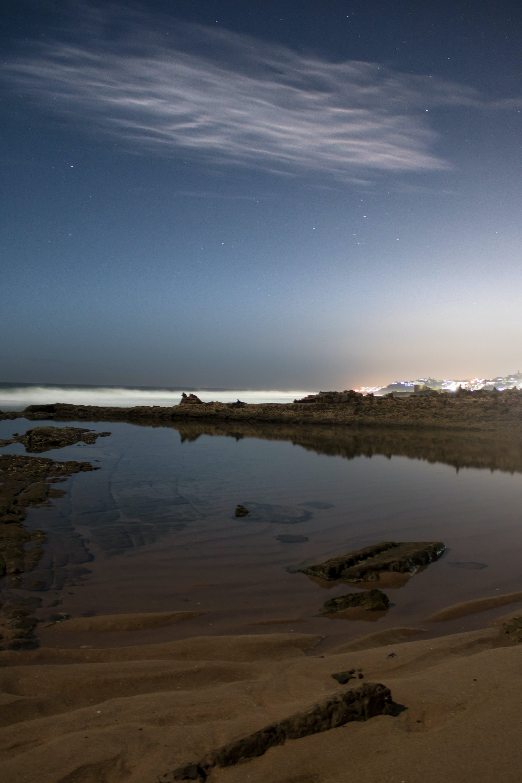 Free stock photo of beach, night, nightscape, nightsky