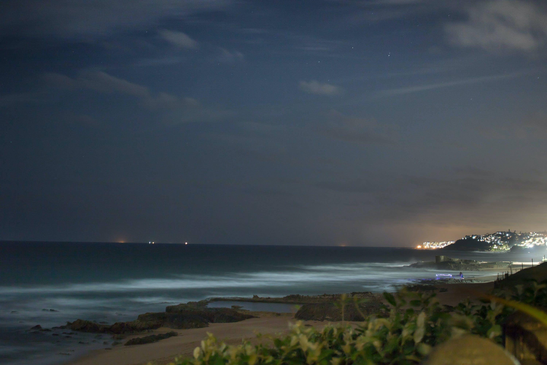 Free stock photo of deep ocean, long exposure, night lights, night photograph