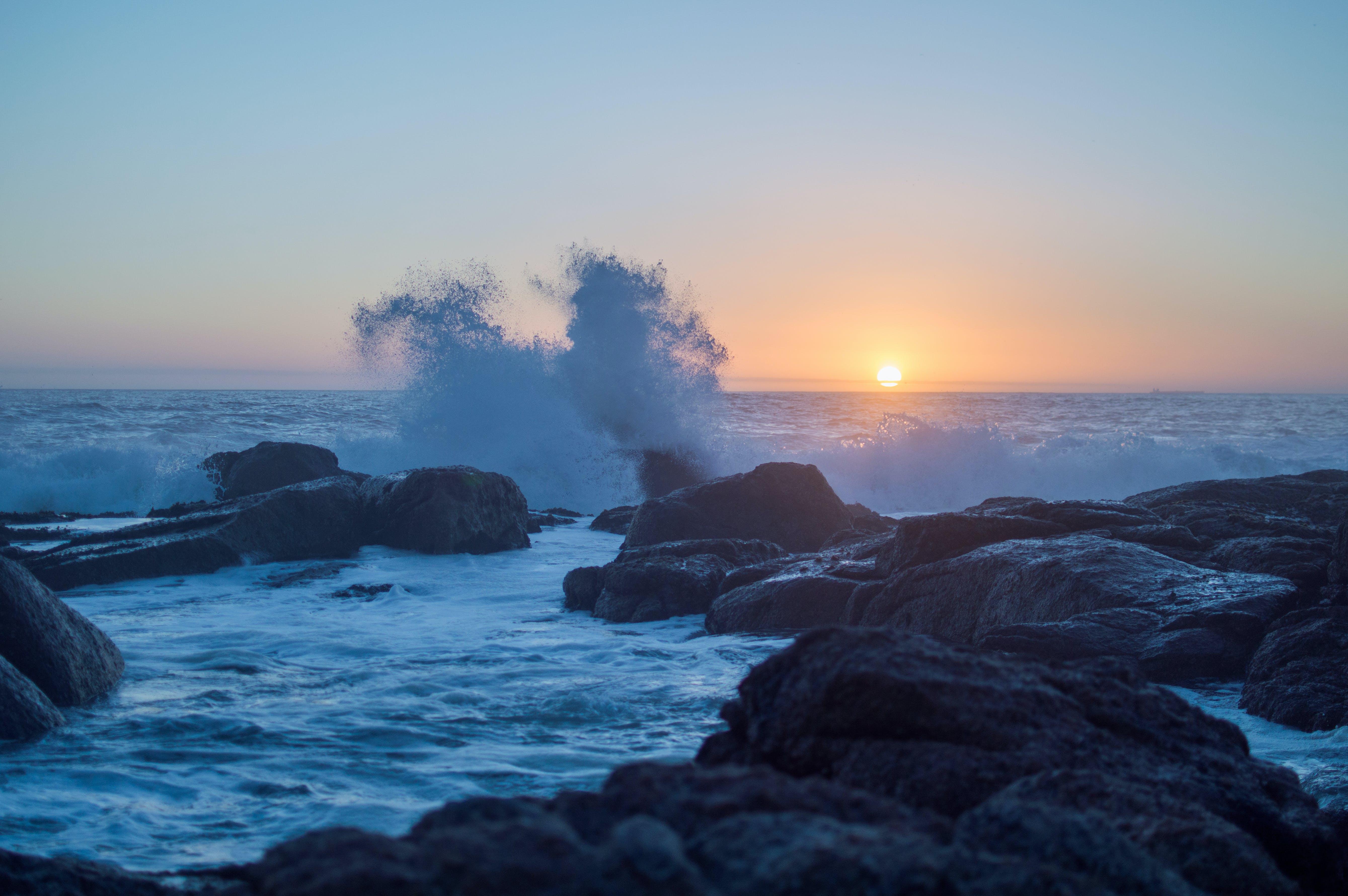 Kostnadsfri bild av 4k tapeter, fredlig, gryning, hav