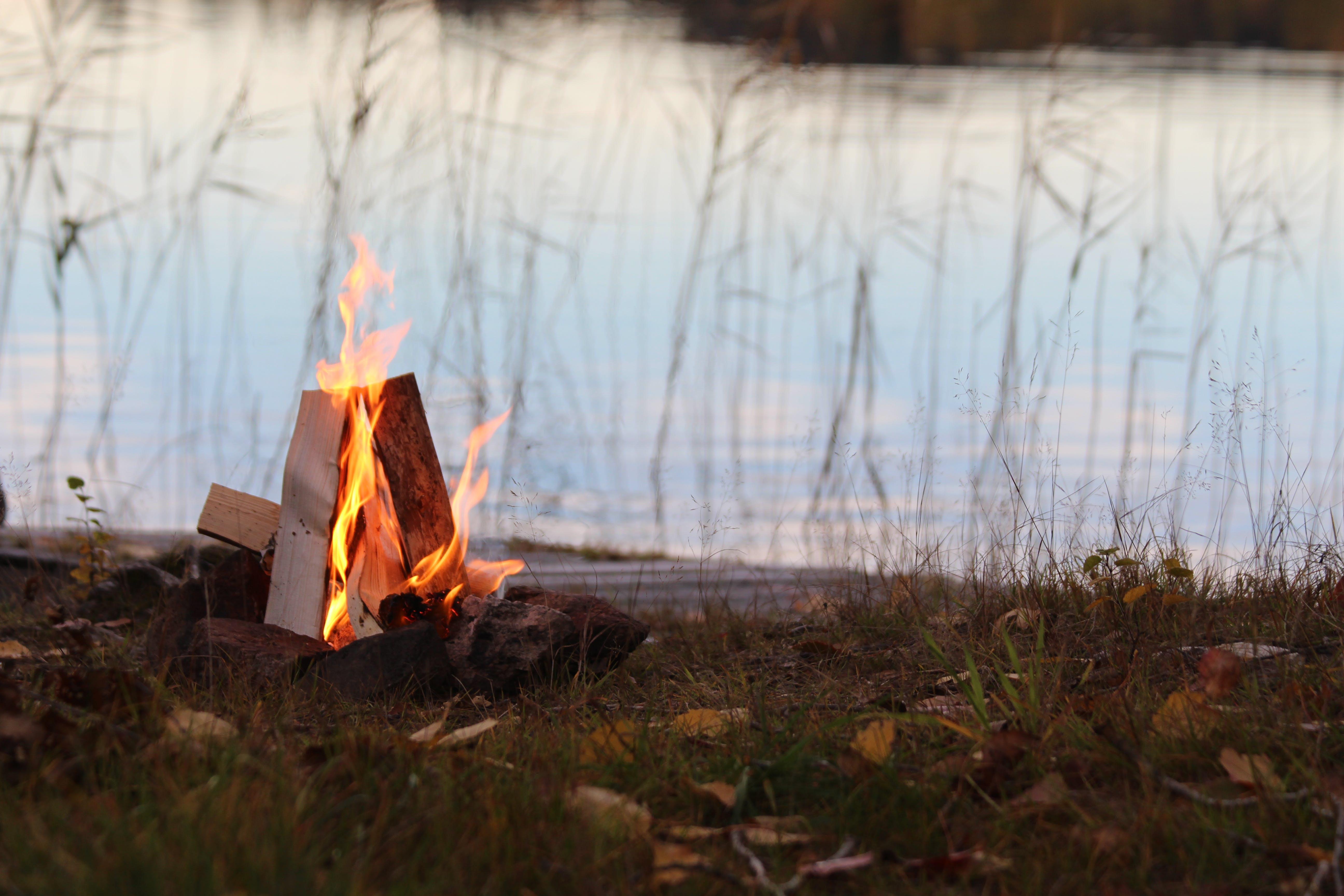 Fire Beside Body of Water