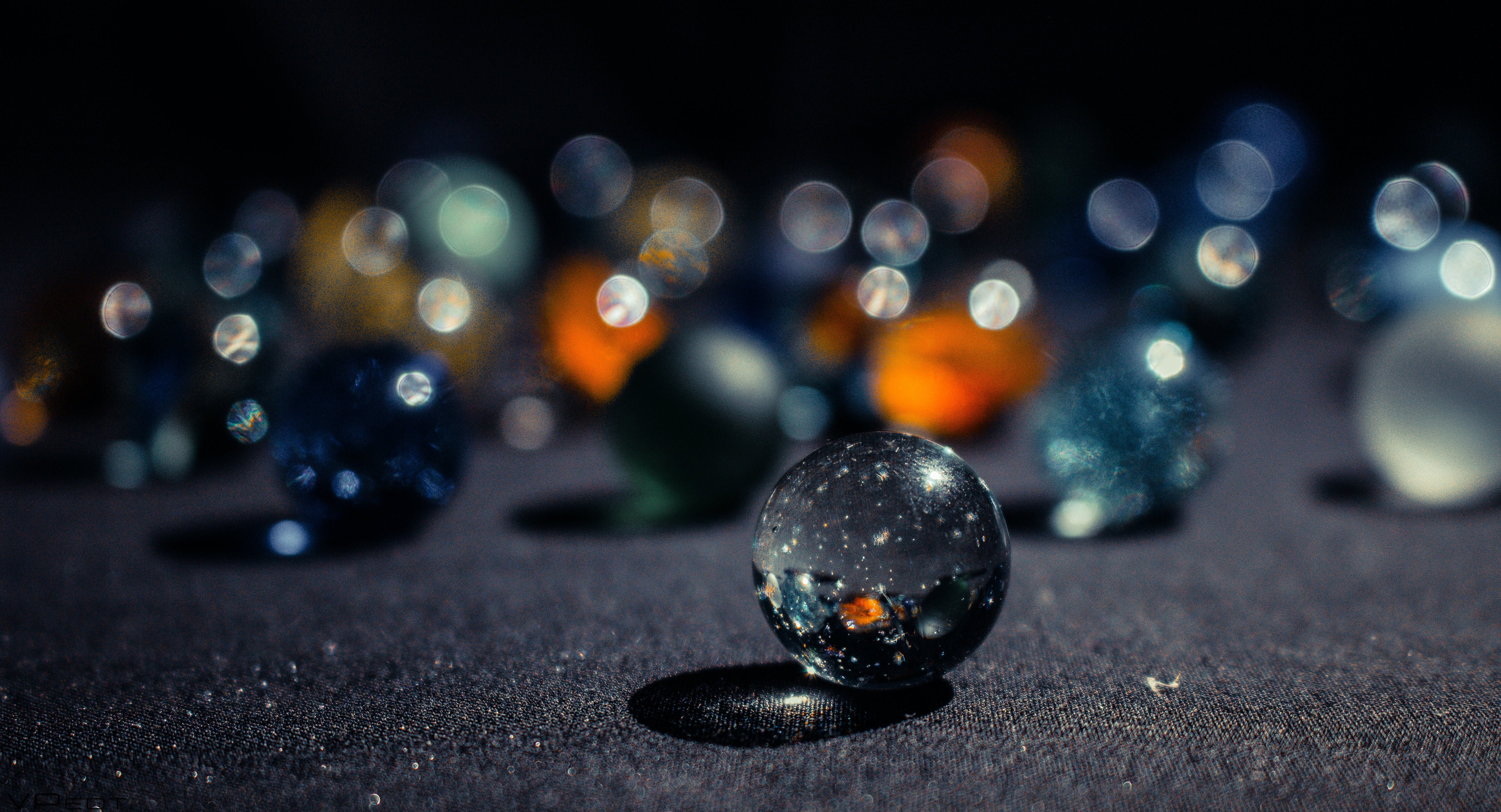 Selective Focus Photography of Marble Ball