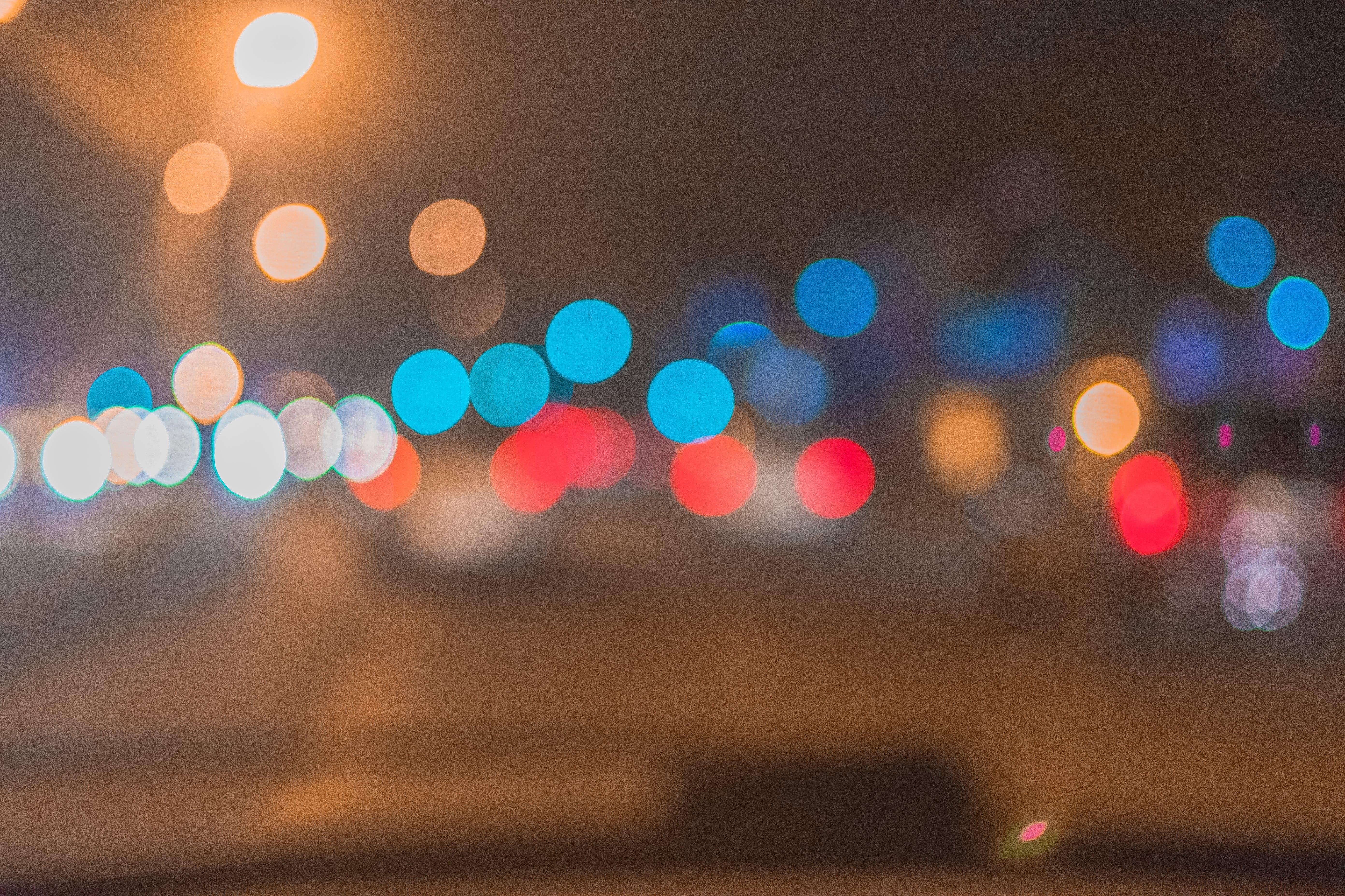 Free stock photo of bukeh blur, car, driving, light