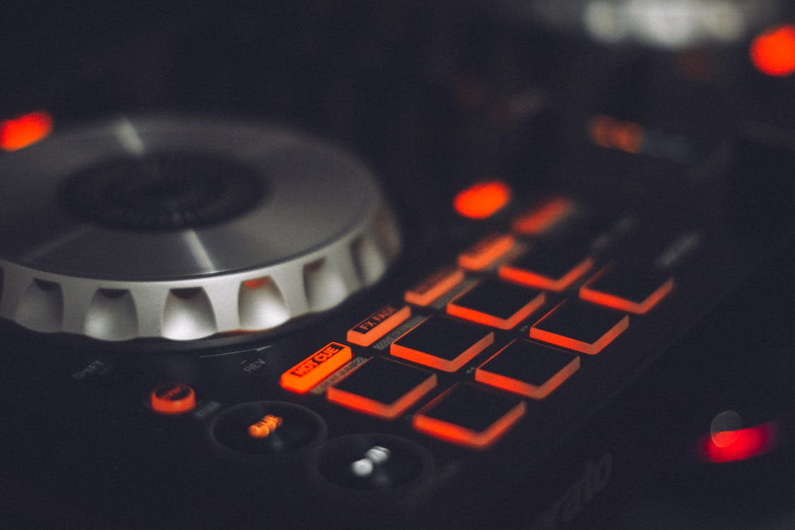 amplificador, aparelhos, botão