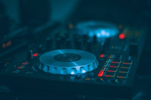 Low Light Photography of Dj Controller