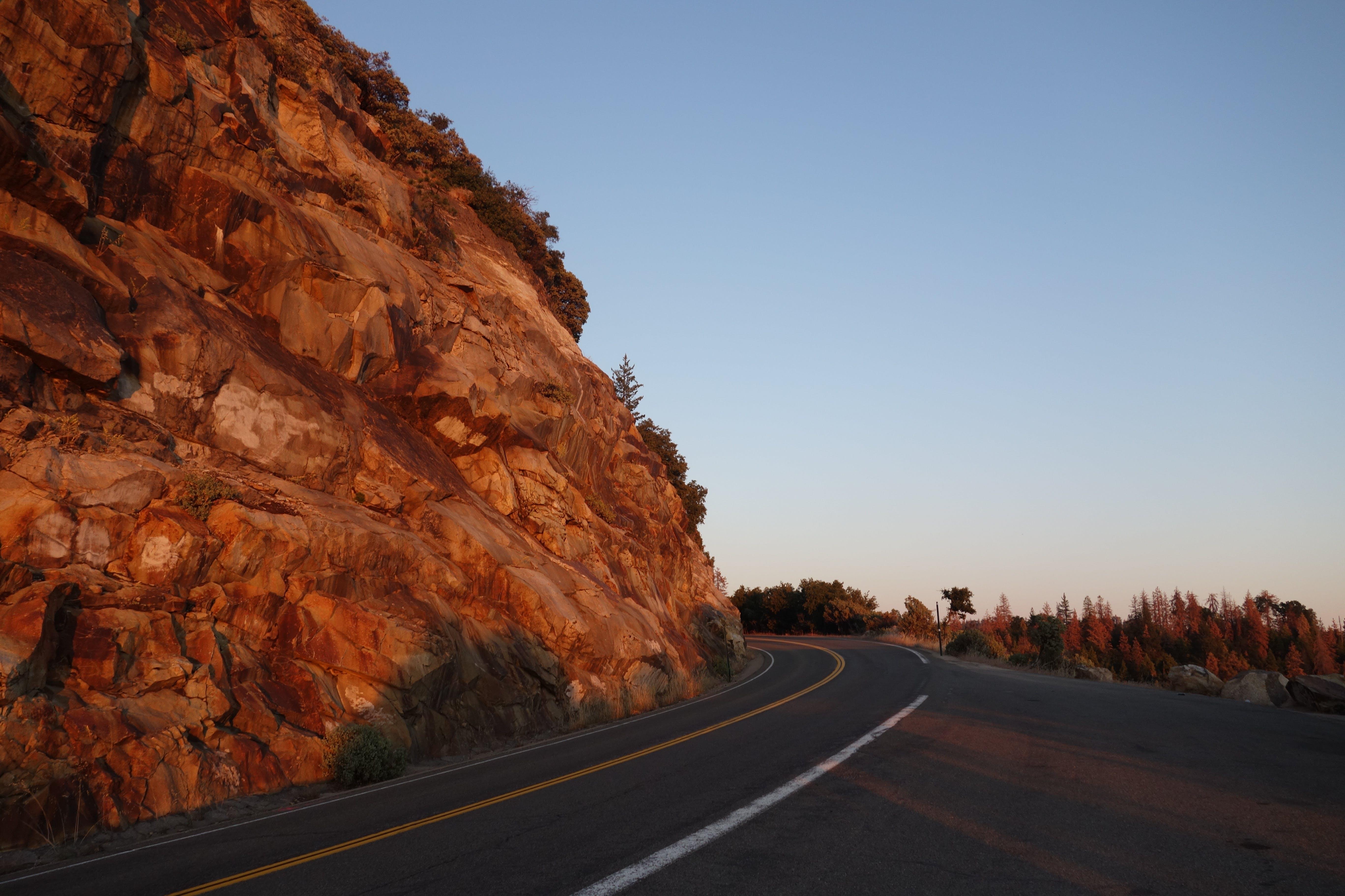 Asphalt Road Beside Mountain