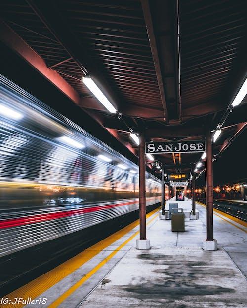 Fotos de stock gratuitas de entrenar, estación de tren, exposición larga, san jose