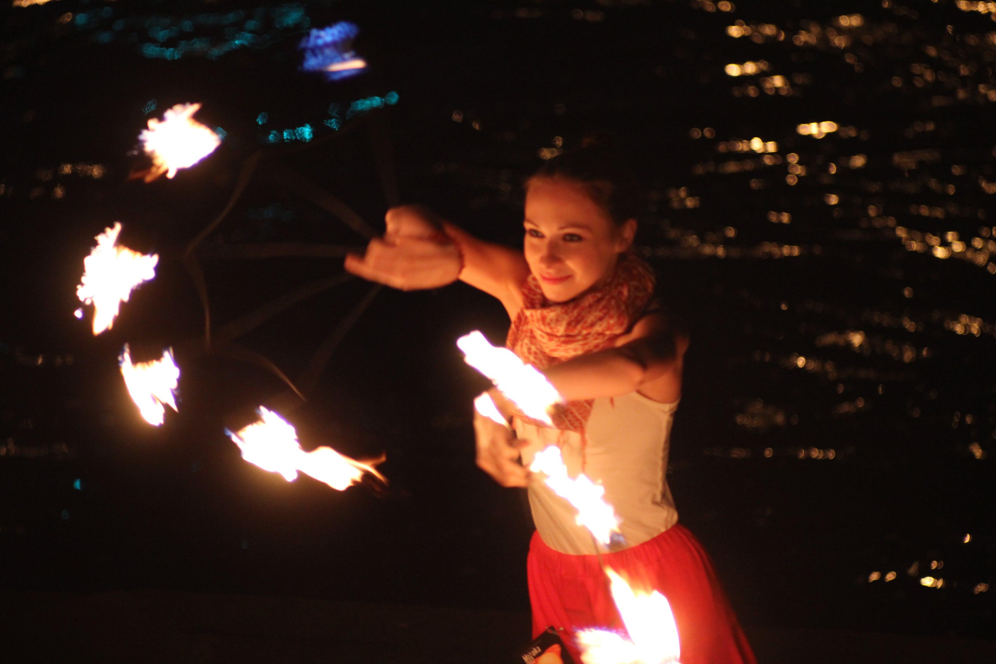 Free stock photo of Vilnius RIverside Fire Show