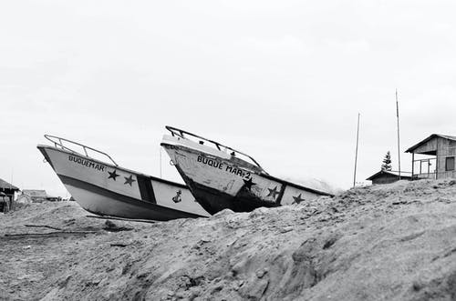 Two Boats on Sand