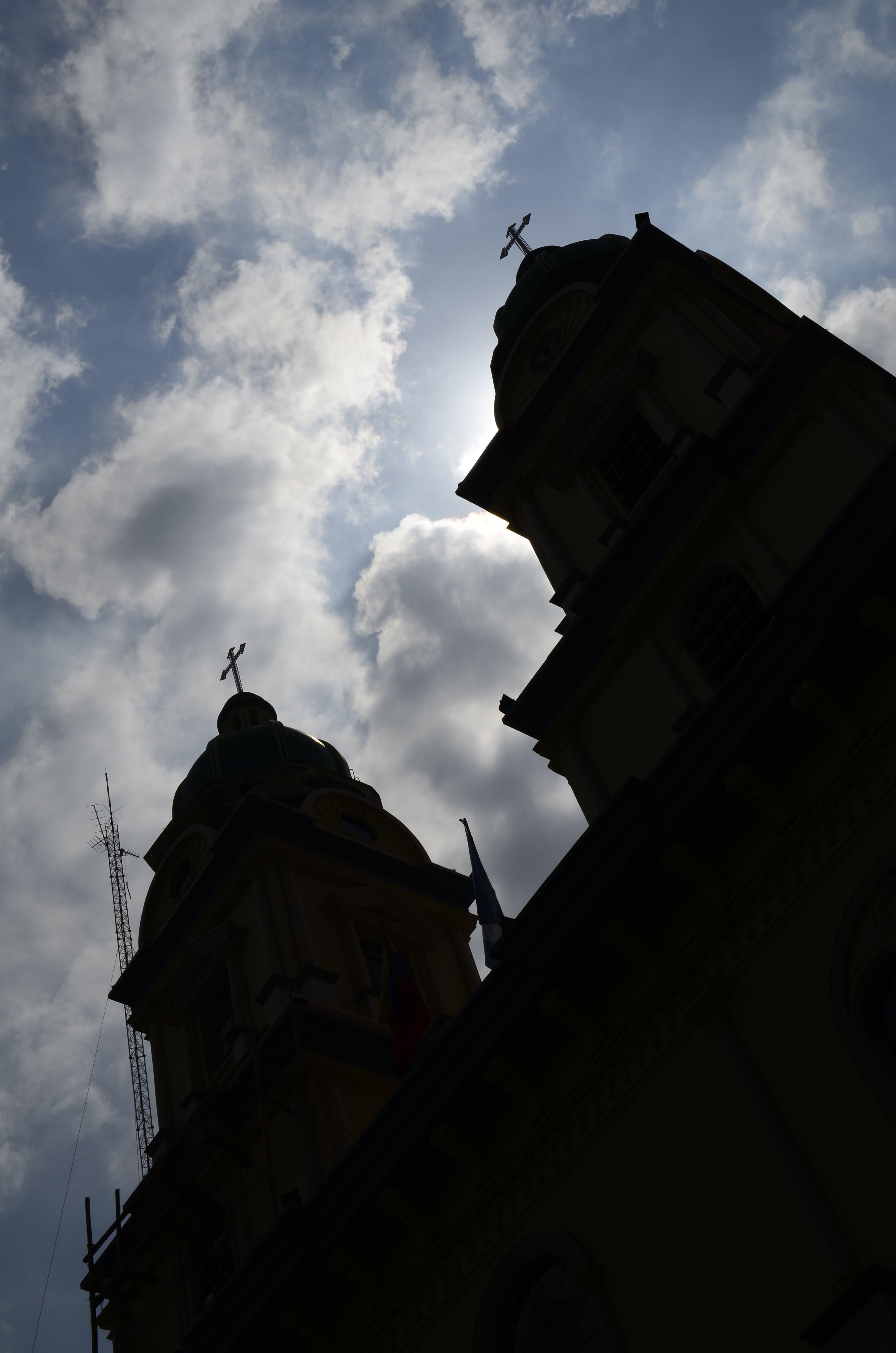 Free stock photo of church, church building, ecuador, golden sun