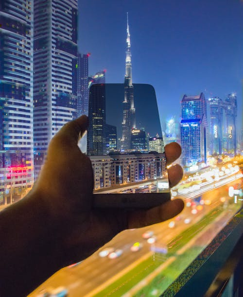 Adobe Photoshop, dxb, 哈里發塔, 夜晚的城市 的 免费素材照片
