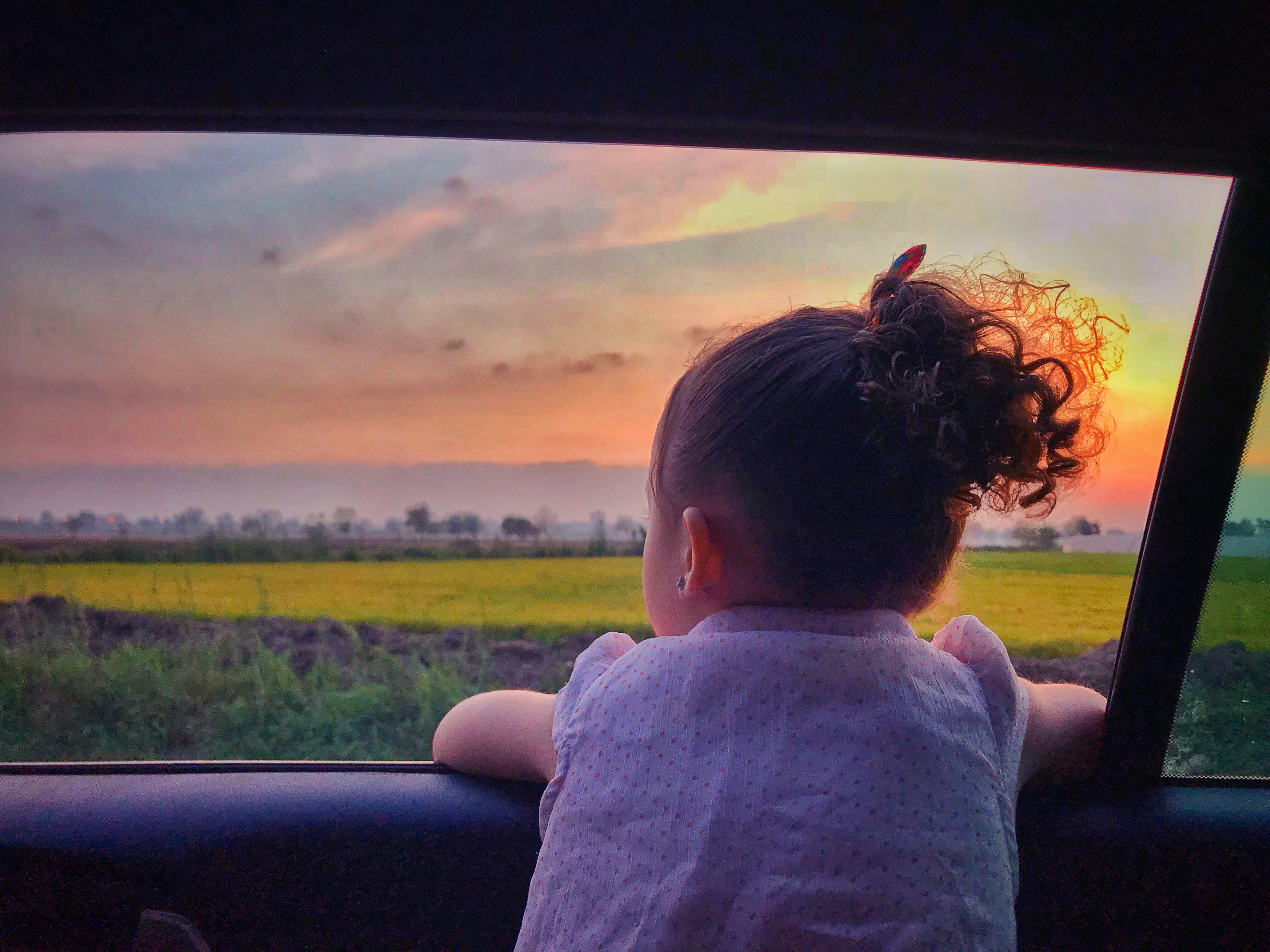 Free stock photo of baby girl, girl, golden sunset, nature