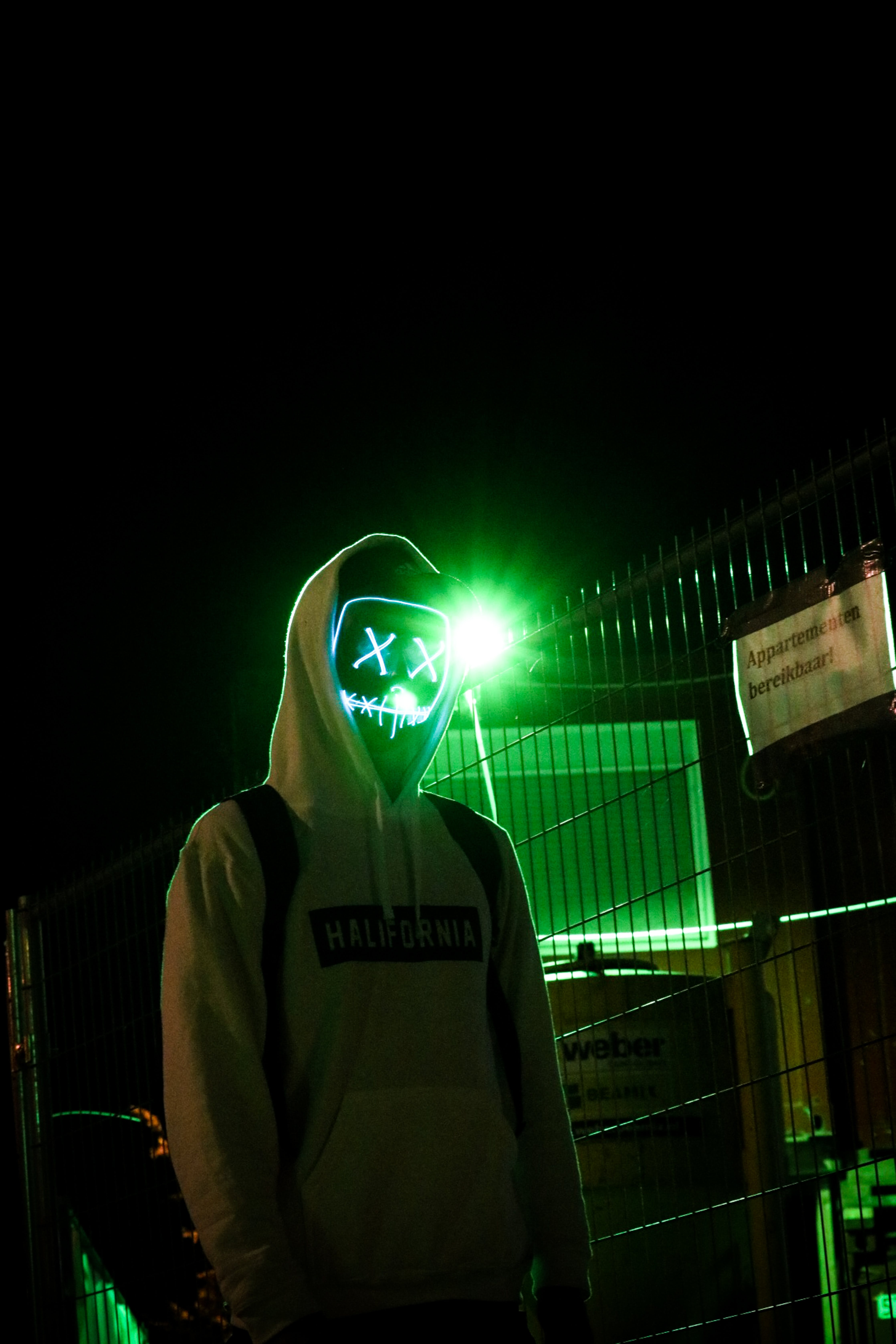 Person Wearing White Pullover Hoodie