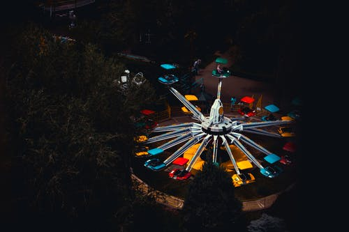 White and Red Amusement Ride