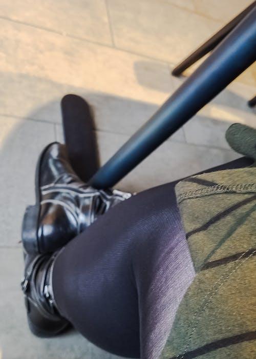 Free stock photo of black, boots, dress, feet