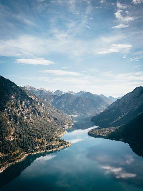 丘陵, 健行, 冒險, 反射 的 免費圖庫相片