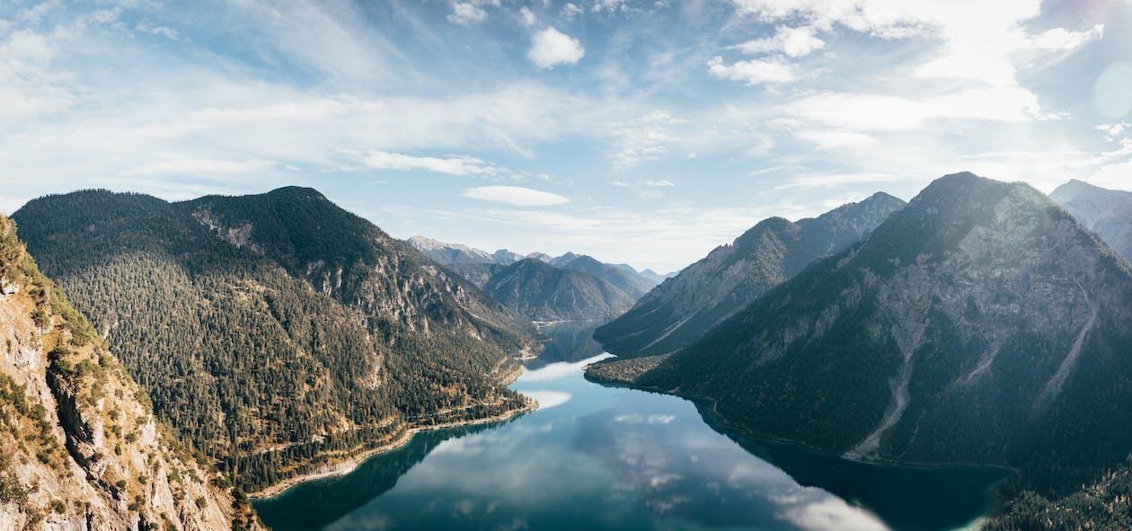 äventyr, berg, blå himmel