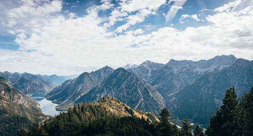 Δωρεάν στοκ φωτογραφιών με βουνό, βουνοκορφή, γαλάζιος ουρανός, γραφικός