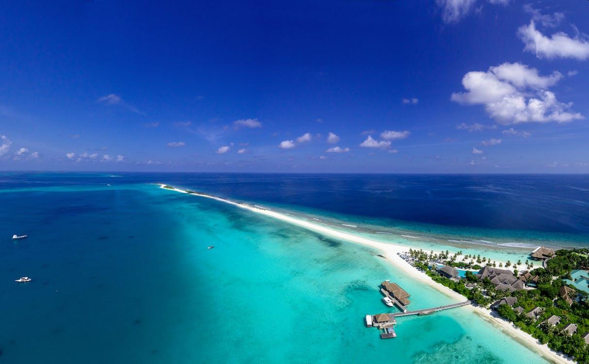 Aerial Photography of Resort Beside Ocean