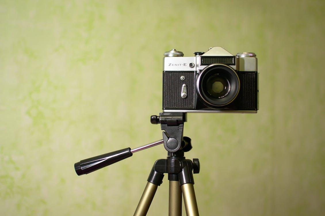 antiek, camera, cameralens