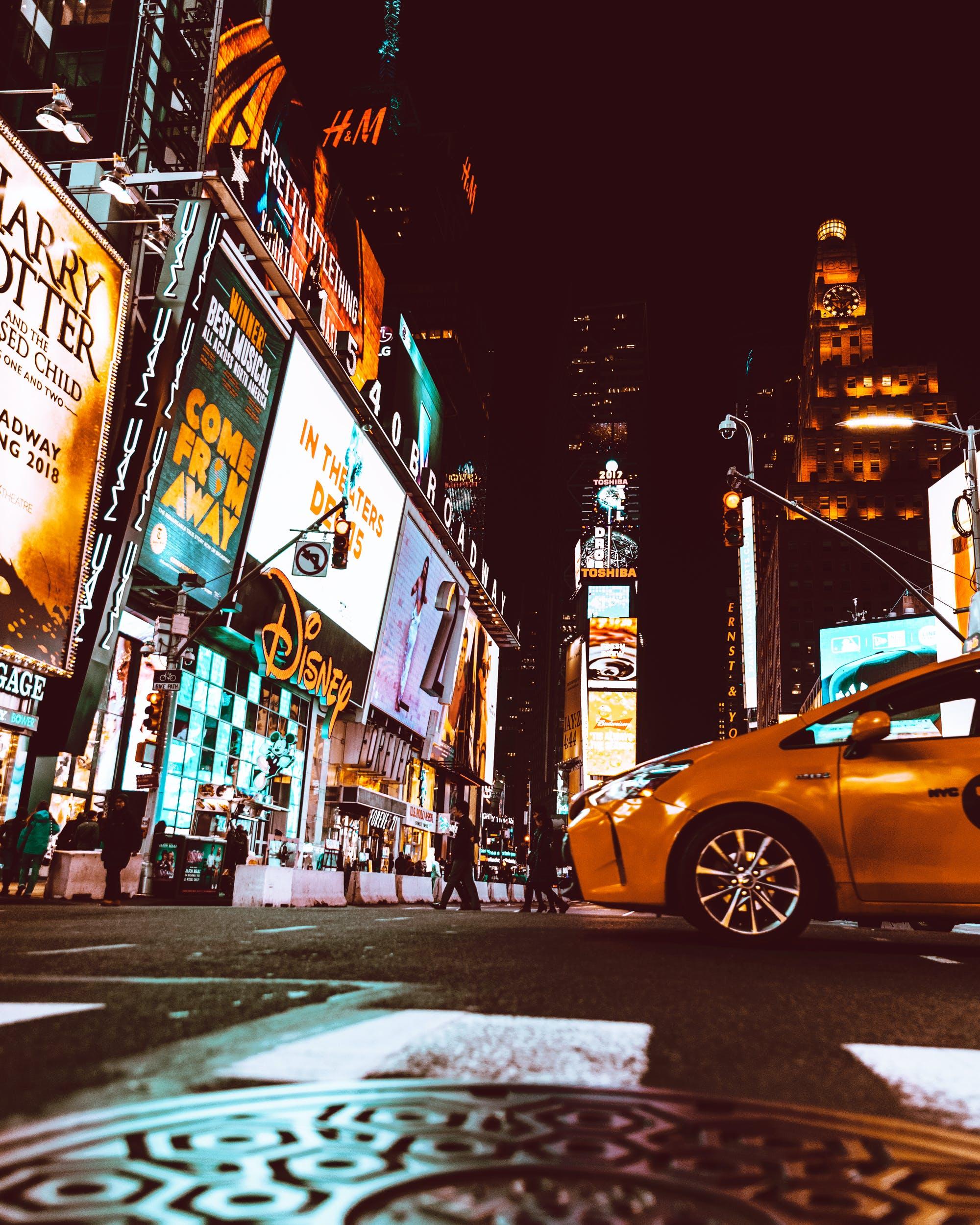 Δωρεάν στοκ φωτογραφιών με Broadway, Άνθρωποι, απόγευμα, αρχιτεκτονική