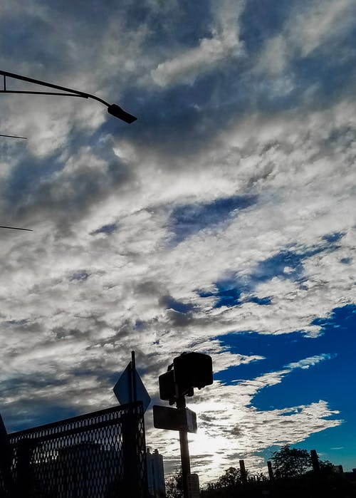 Free stock photo of blue, clouds, contrast, shadow