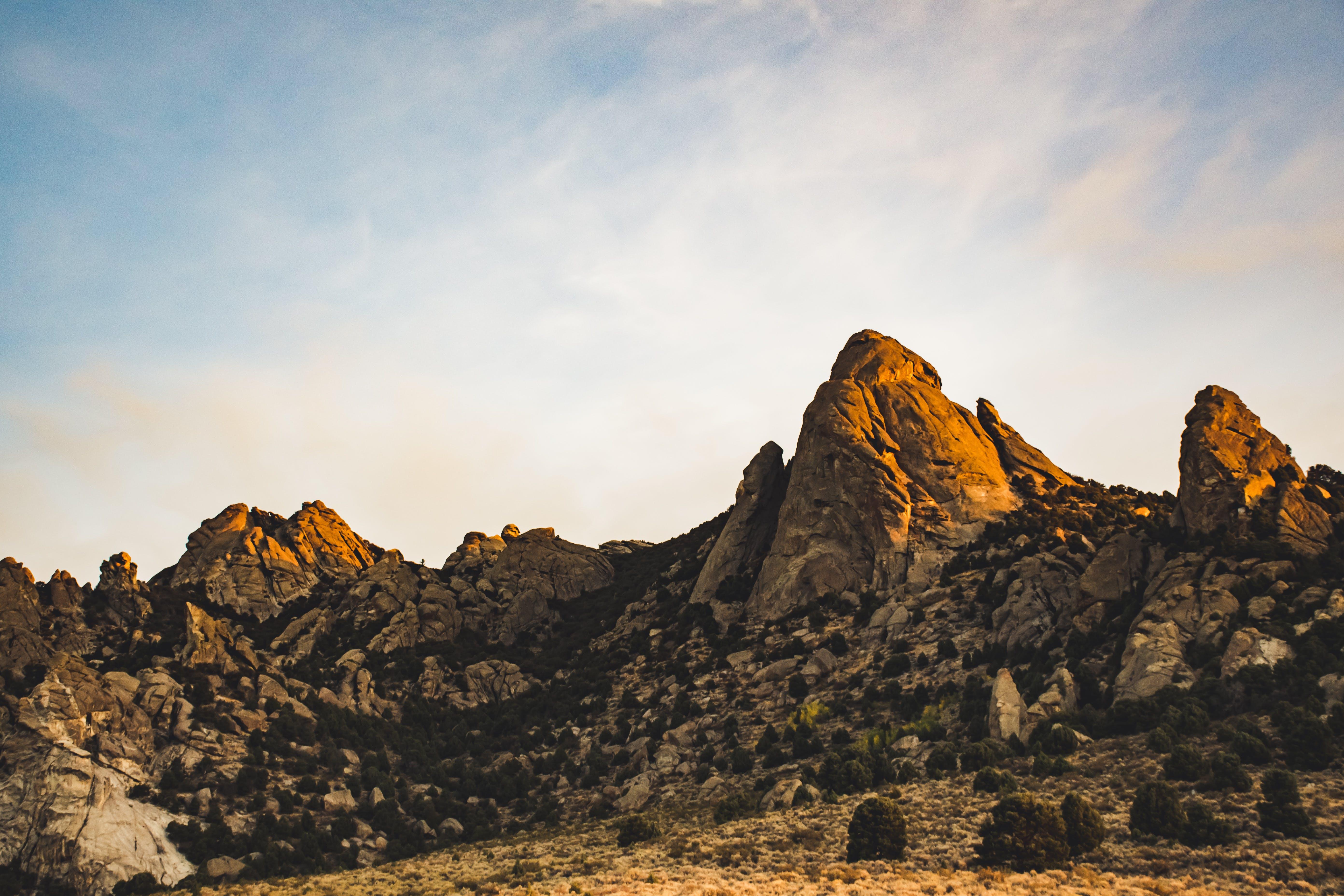 Landscape Photo of Rocks on Mountain