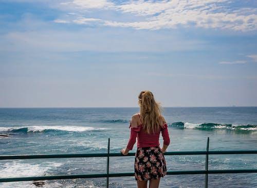 Бесплатное стоковое фото с вид на океан, вода, голубое небо, досуг