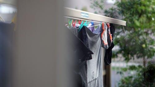 คลังภาพถ่ายฟรี ของ การซัก, ราวตากผ้า, เสื้อผ้า, แขวน