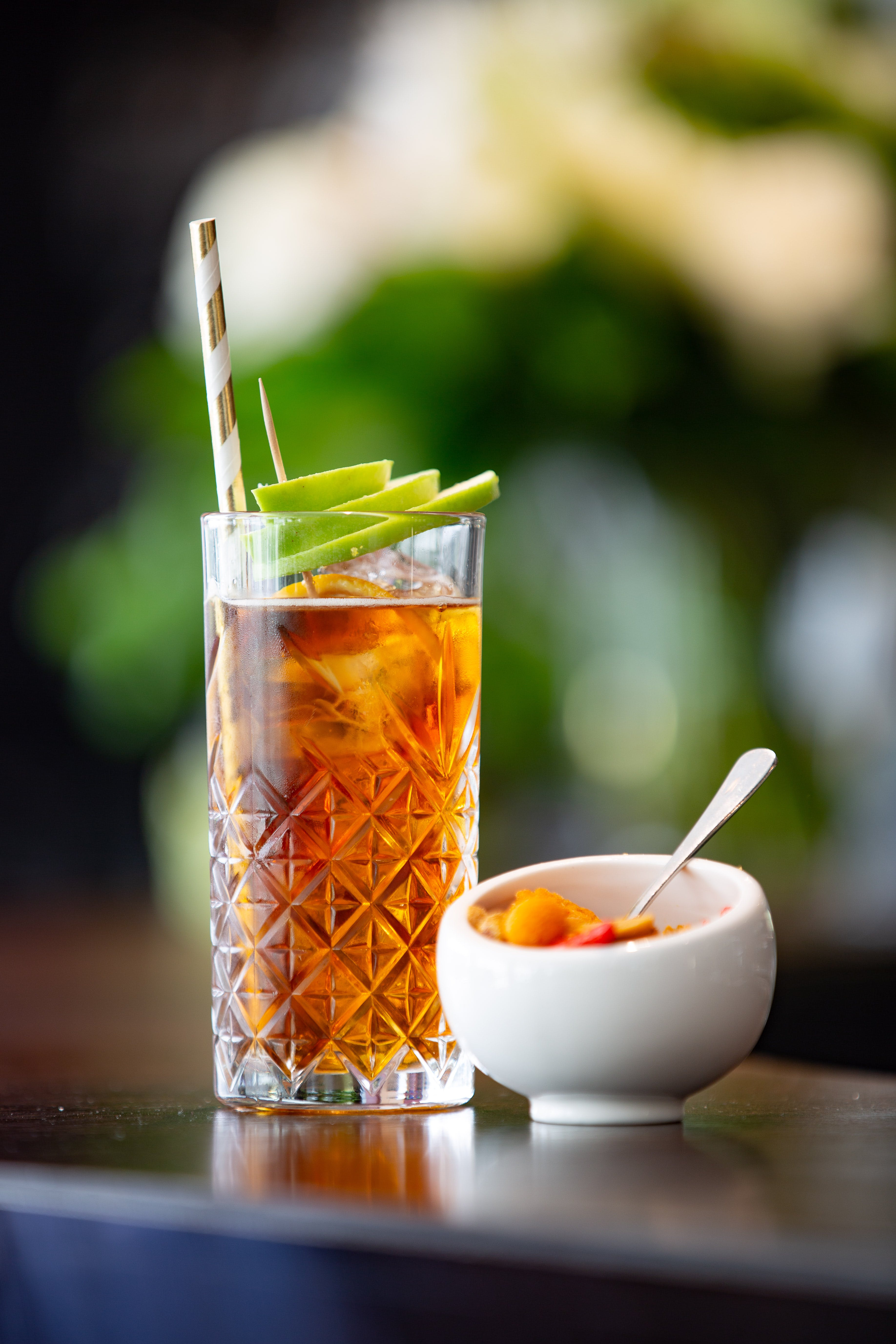 Clear Highball Glass With Iced Tea