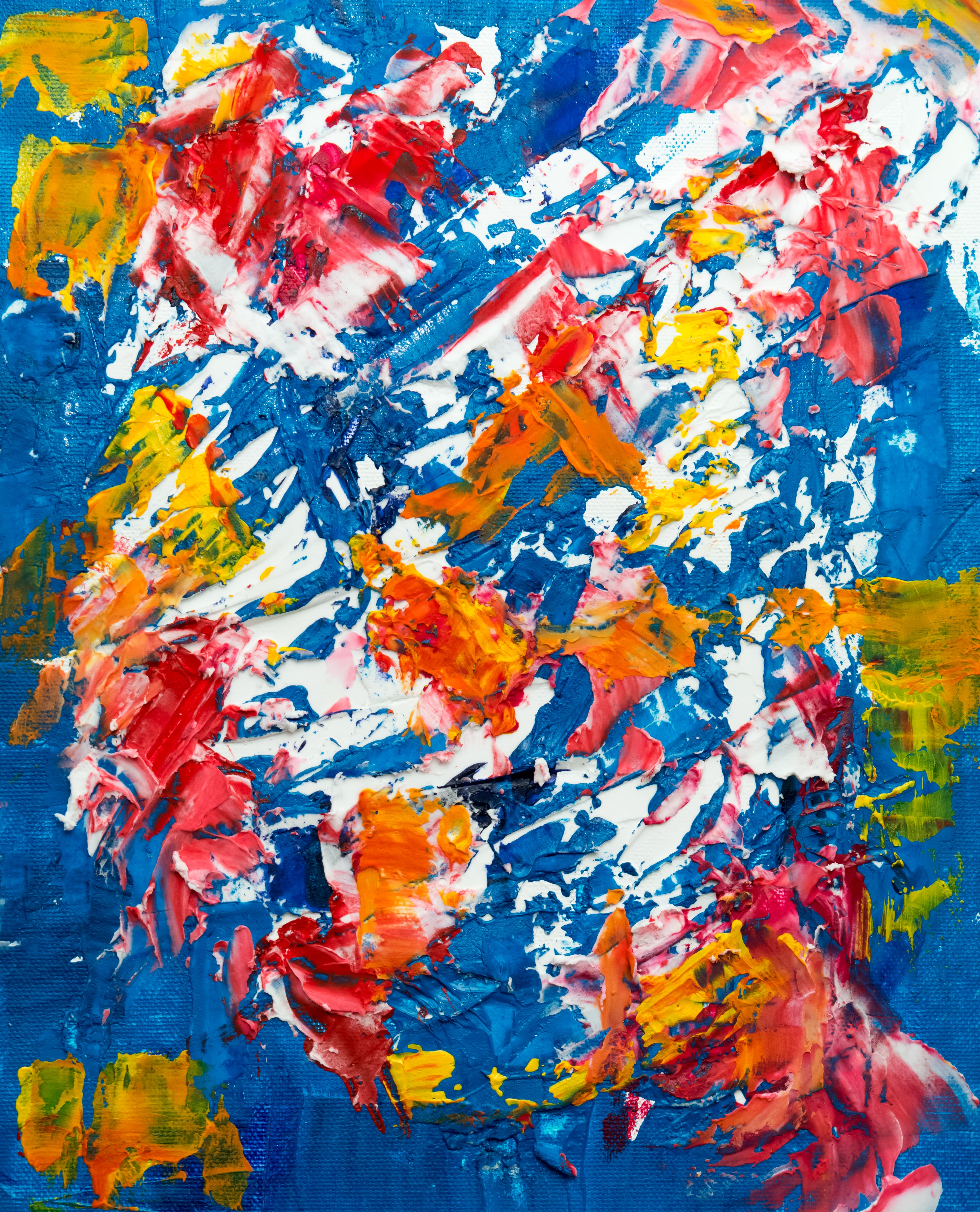 Photo of Abstract Painting On Canvass