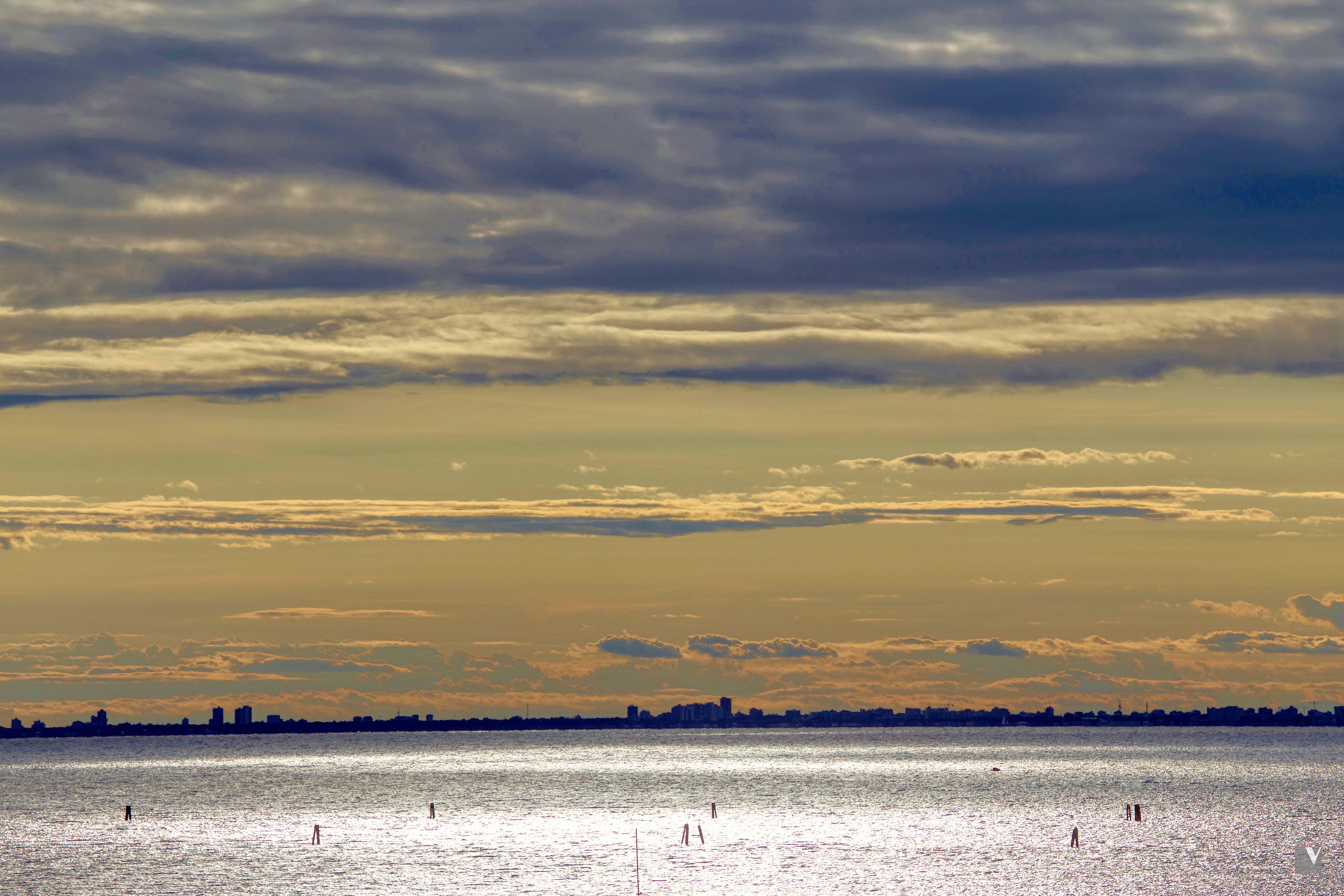 Free stock photo of alba, city lights, clouds, far