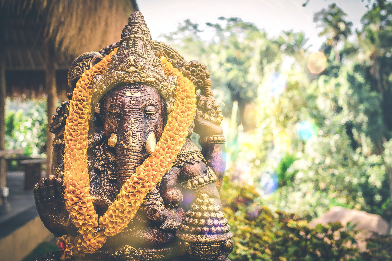 Brown Ganesha Figurine
