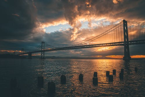 Kostenloses Stock Foto zu 4k wallpaper, abend, architektur, bay bridge