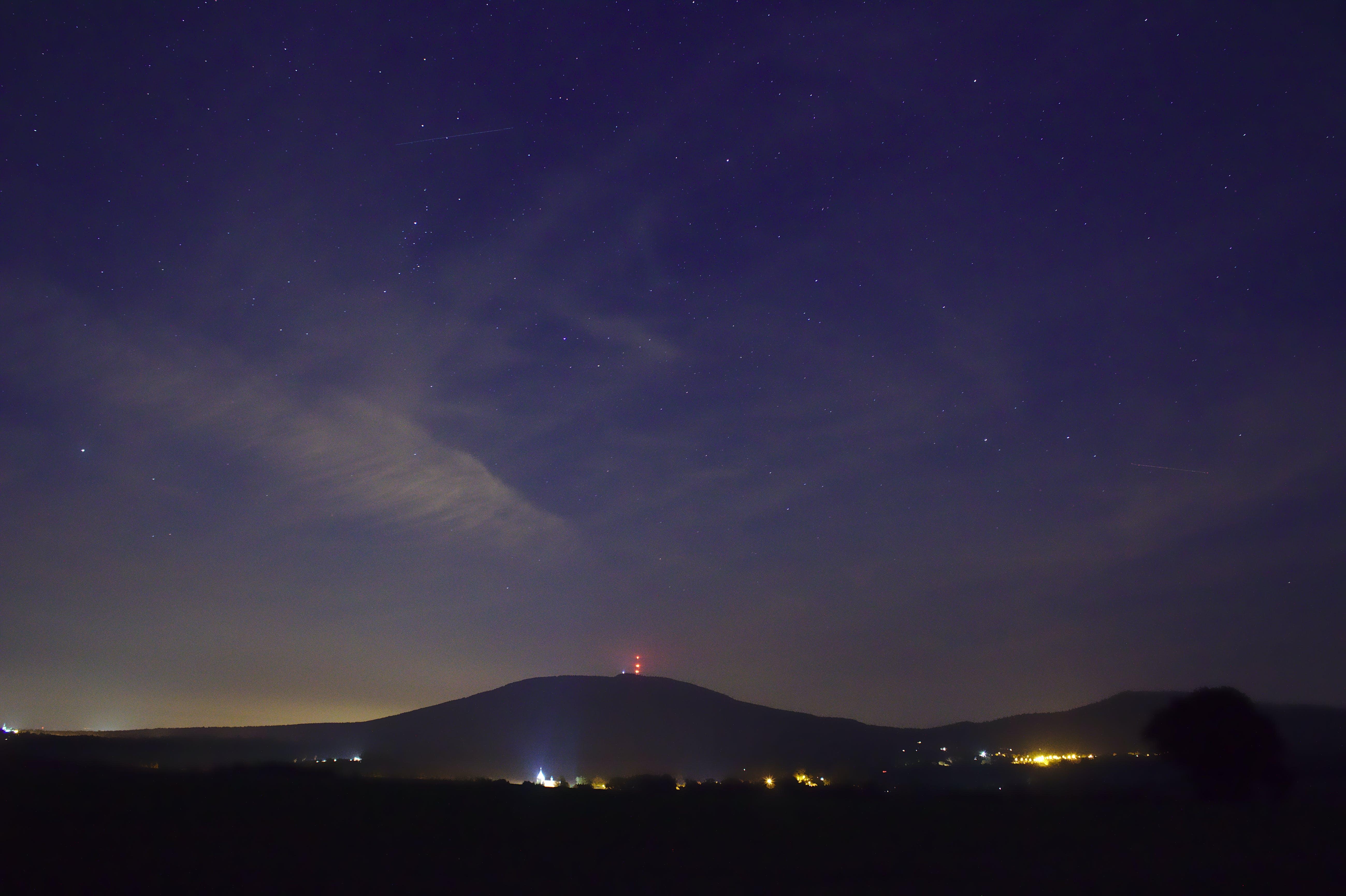 Foto d'estoc gratuïta de cel, cel nocturn, clareja, estrella
