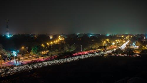 Fotobanka sbezplatnými fotkami na tému červená, Dillí, dlhá expozícia, horizont