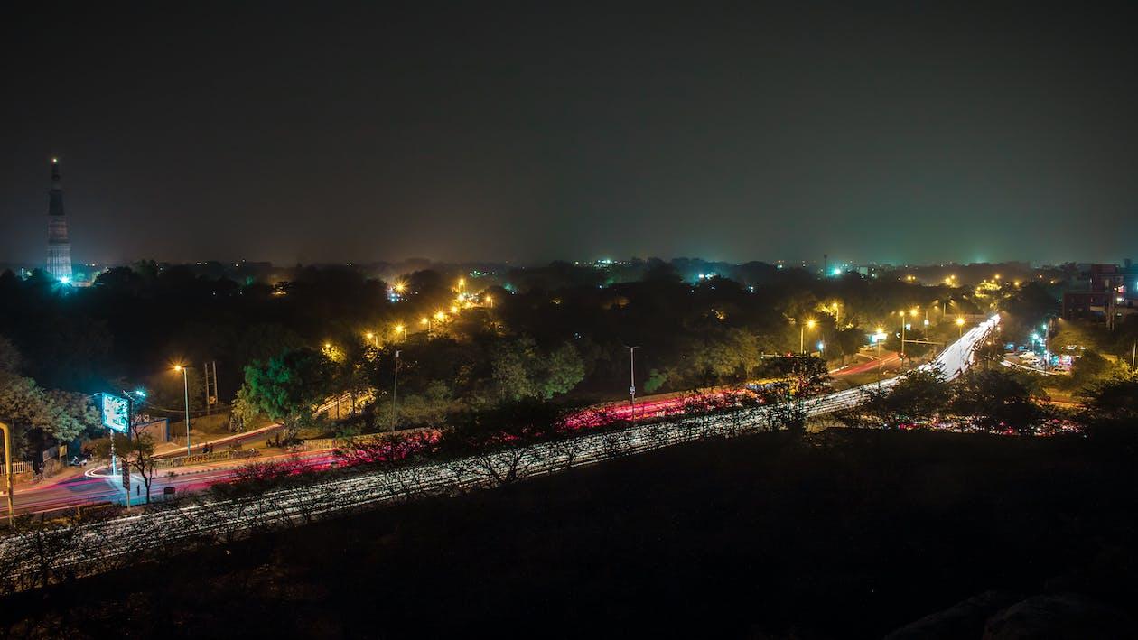 blau, Delhi, exposició llarga