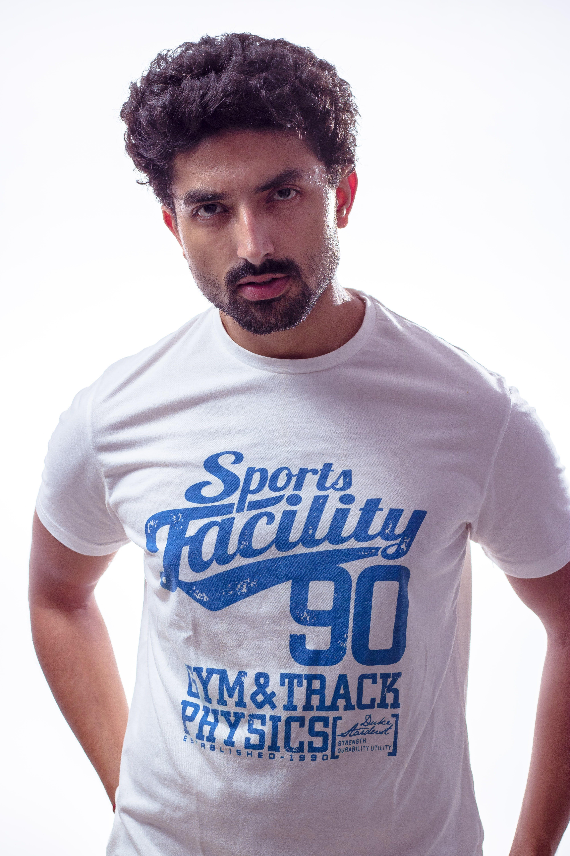 Photo of Man Wearing White T-Shirt