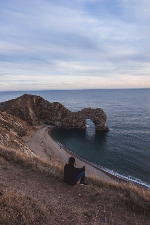 Základová fotografie zdarma na téma denní světlo, fotka zvysokého úhlu, hora, horizont