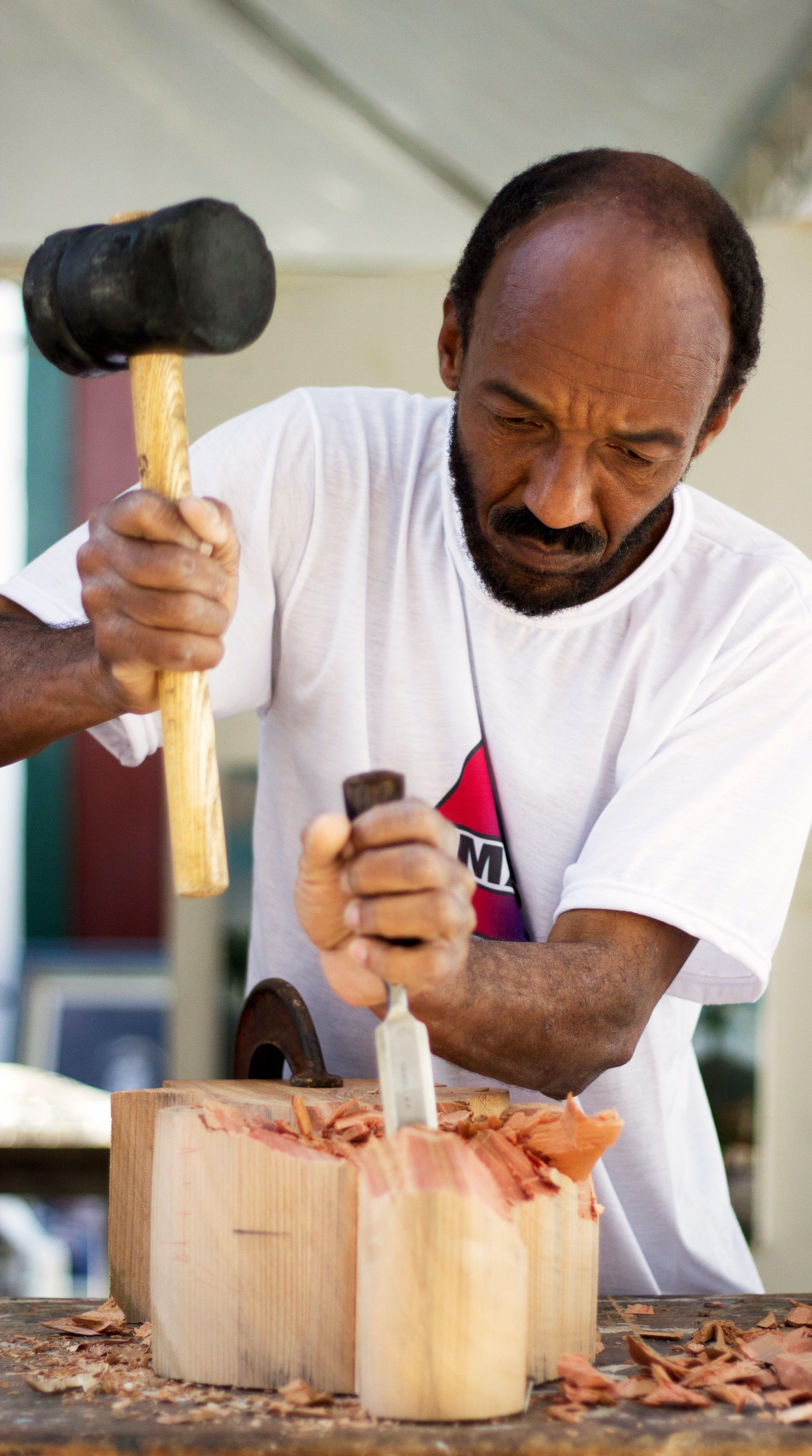Free stock photo of wood, man, art, working