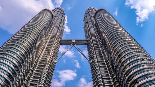 Low Angle View of the Petronas Towers