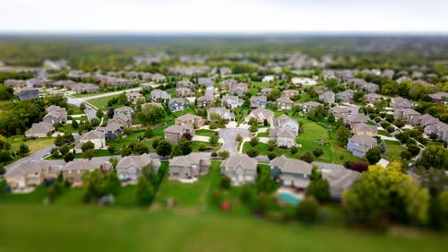 Бесплатное стоковое фото с Аэрофотосъемка, дома, окрестности